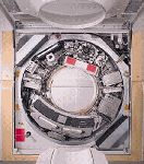 Image of CT scanner, covers open